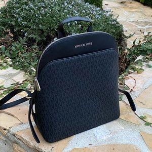 NWT Michael Kors Emmy Signature backpack black